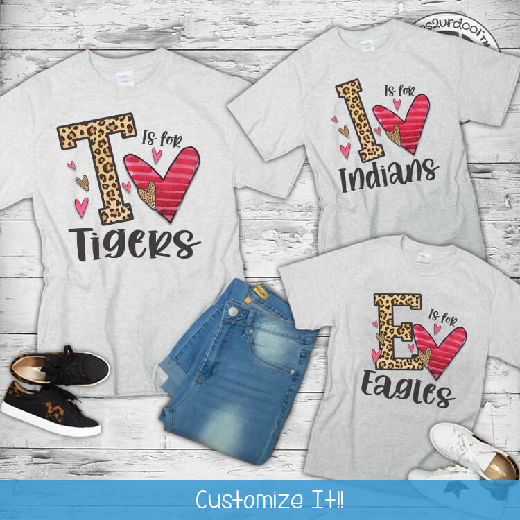 Letter is for Mascot T-Shirt Flat