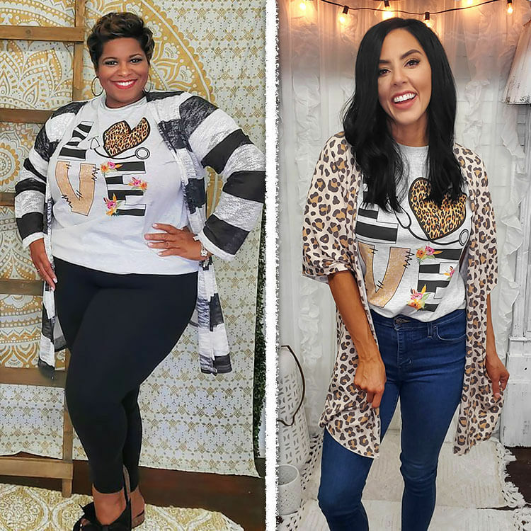 Love Leopard Heart Nurse T-Shirt Lifestyle