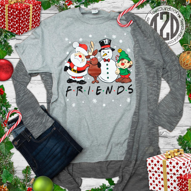 Christmas FRIENDS T-Shirt Flat