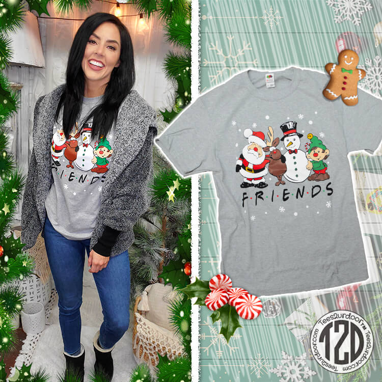 Christmas FRIENDS T-Shirt Product Image