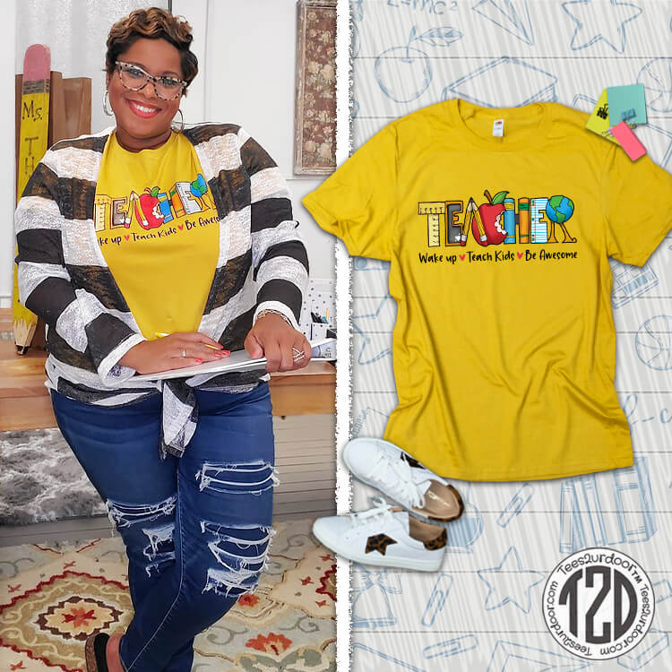 Teach Kids Be Awesome T-Shirt Product Image