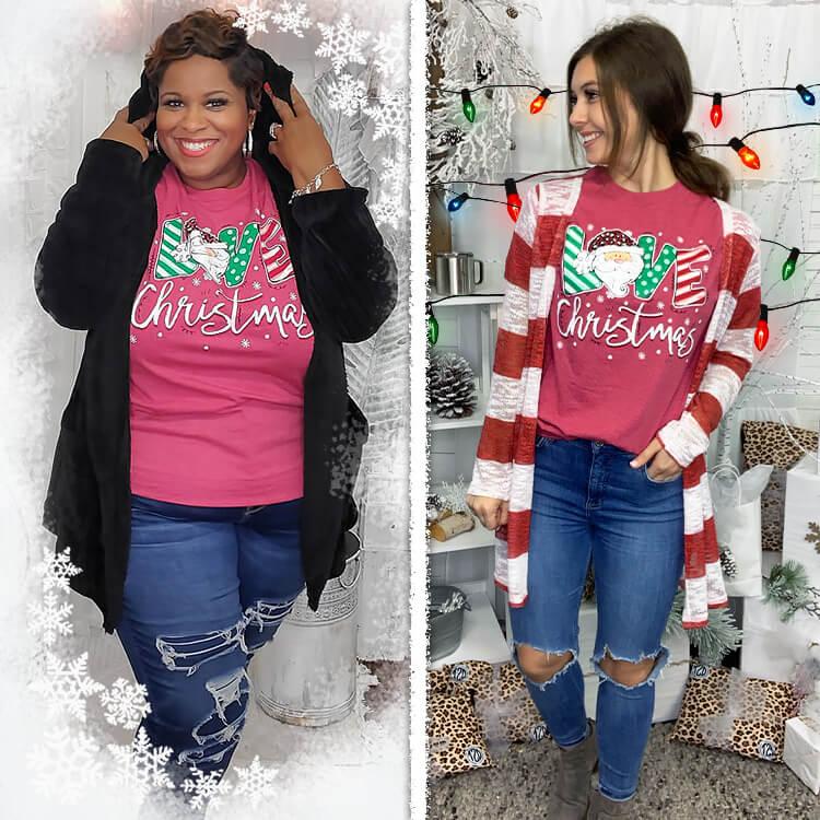 Love Christmas Festive T-Shirt Lifestyle
