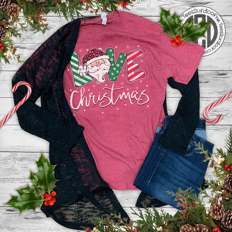 Love Christmas Festive T-Shirt Flat