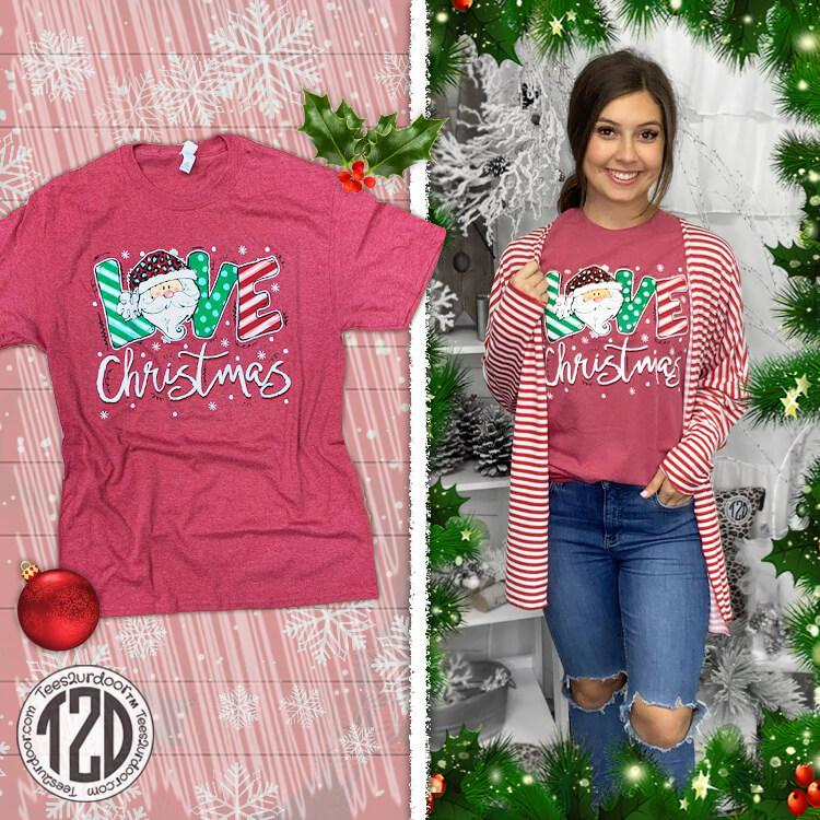 Love Christmas Festive T-Shirt Product Image
