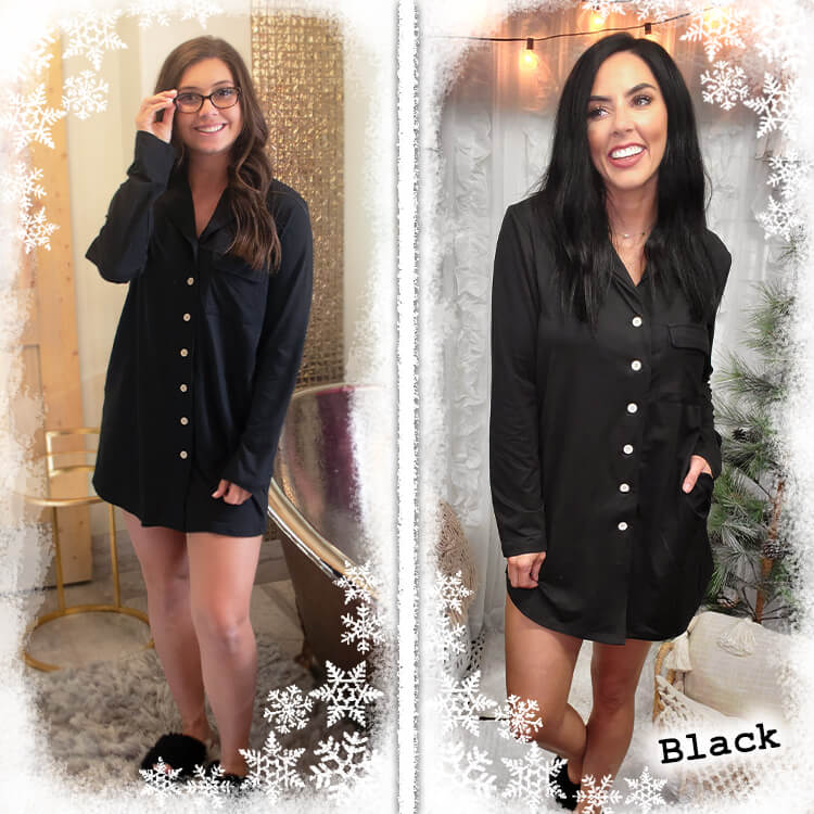 Perfectly Cozy Gown Black