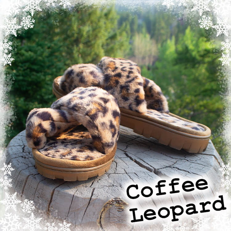 Coffee Leopard Slippers