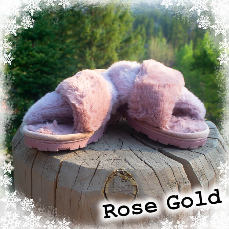 Rose Gold Slippers