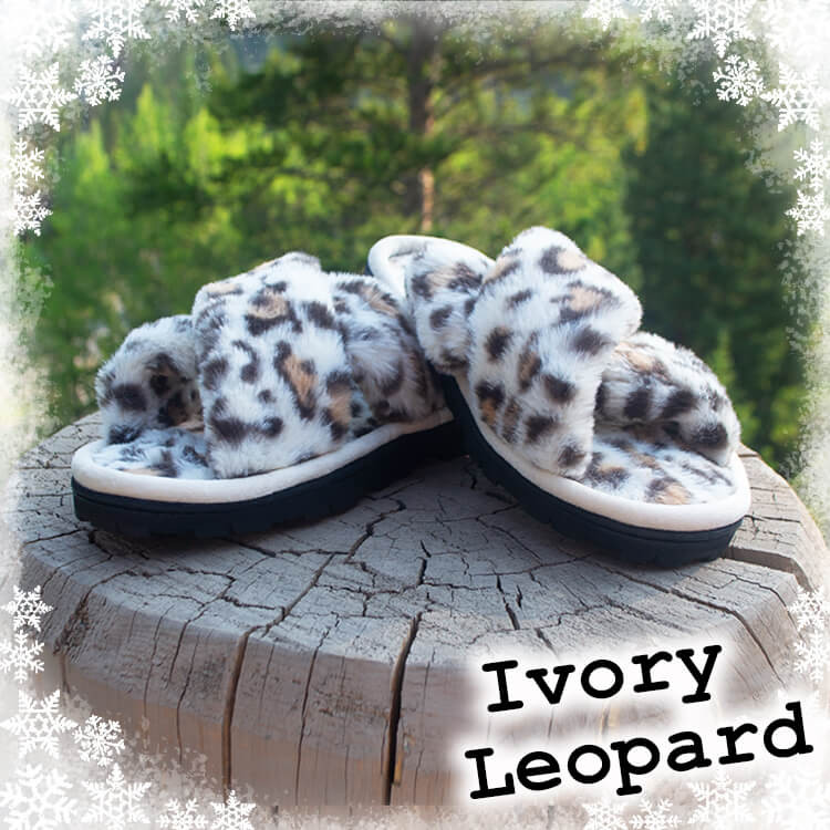 Ivory Leopard Slippers