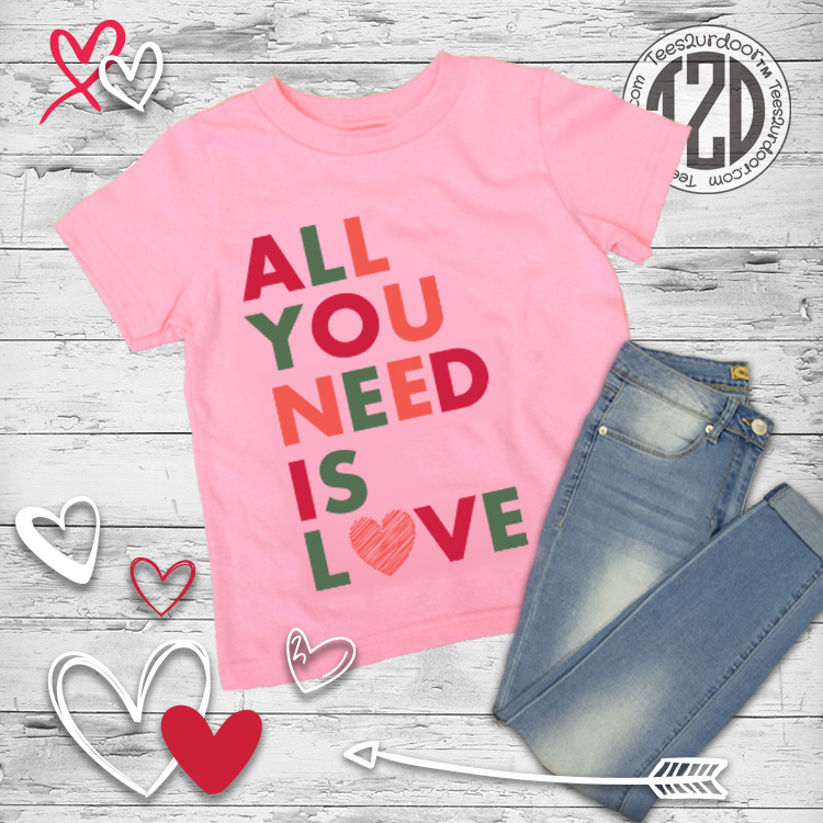 All you need is love typography