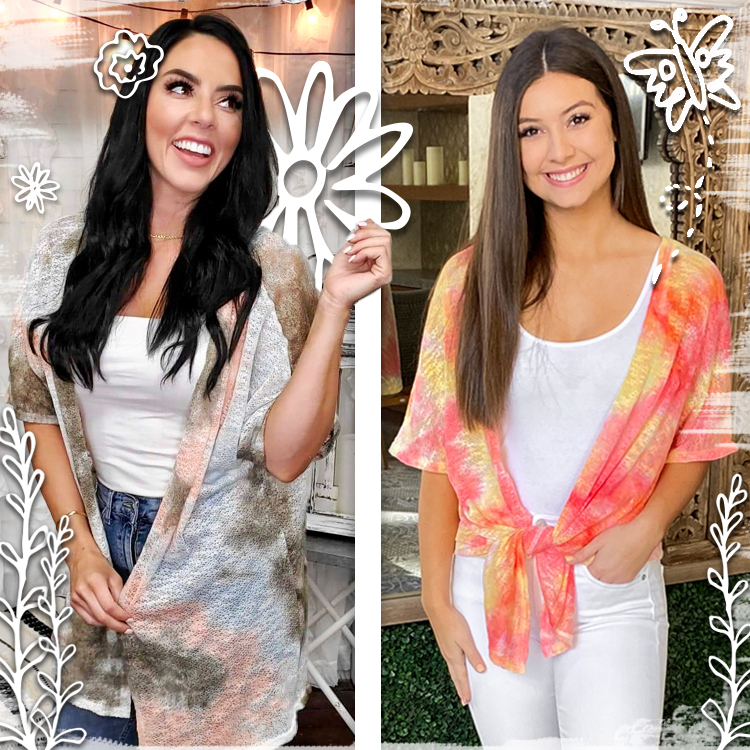 Lucy Lightweight Tie Die Cardigan Product Image