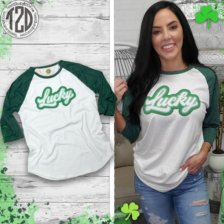 Retro Lucky St. Patrick's Day Raglan Product Image