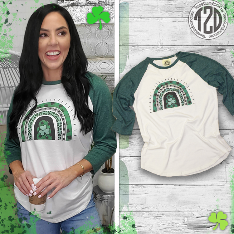 St. Patrick's Day Arches Raglan Product Image