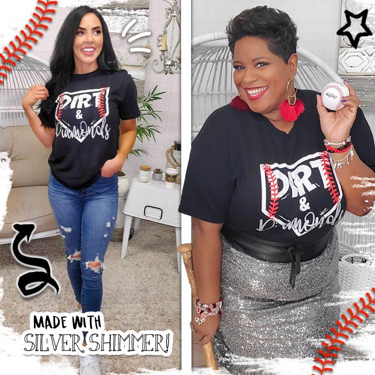 Dirt and Diamonds Baseball T-Shirt