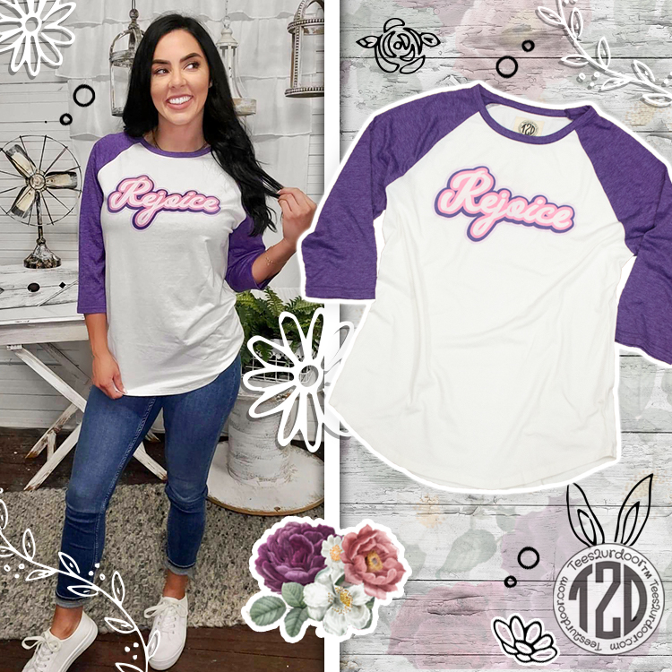 Retro Rejoice Easter Raglan Product Image