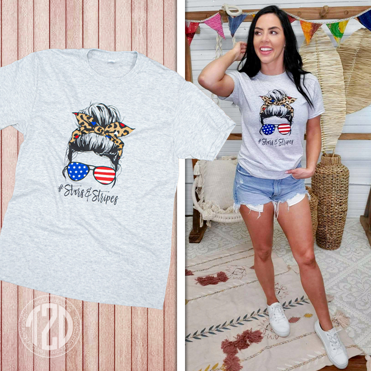 Messy Bun Stars and Stripes product image