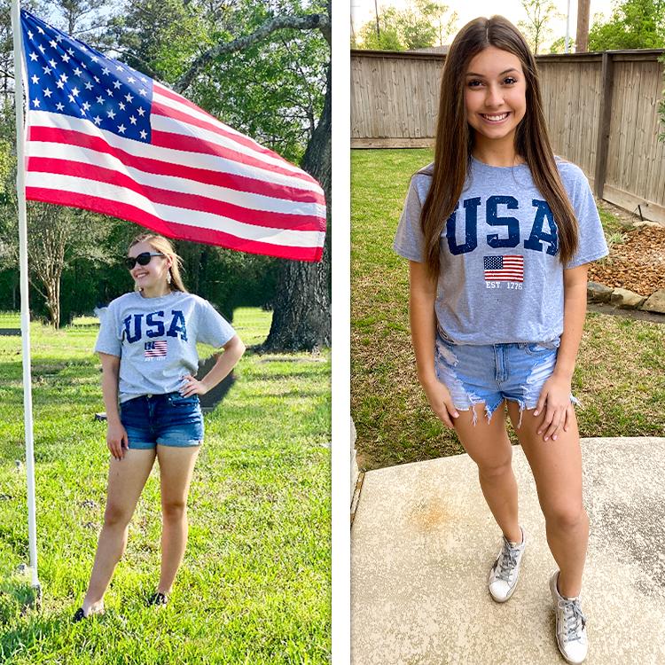 Sporty USA Patriotic T-Shirt