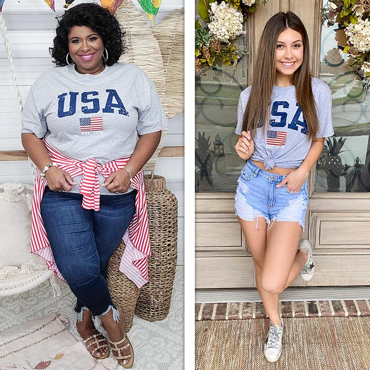 Sporty USA Patriotic T-Shirt Lifestyle