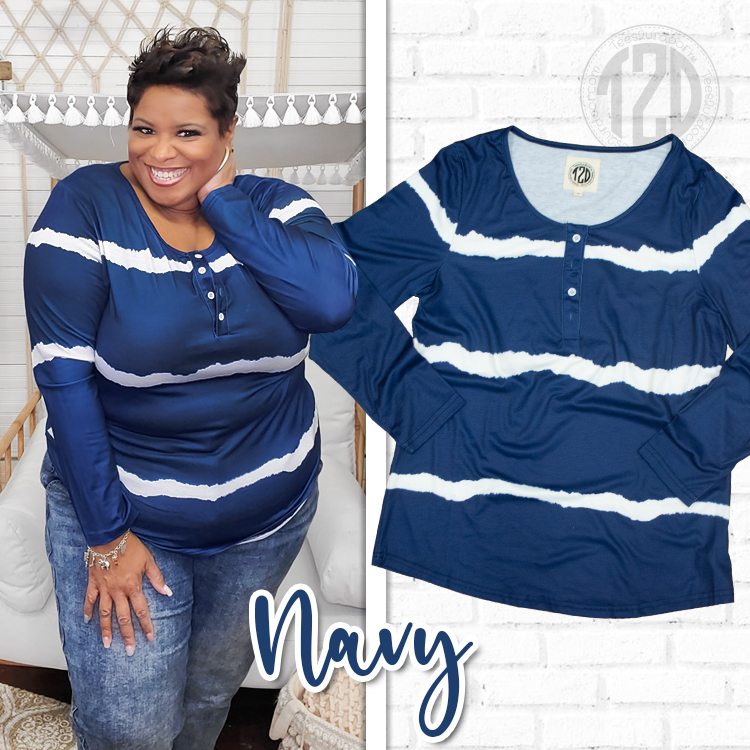 Navy Henley Product Image