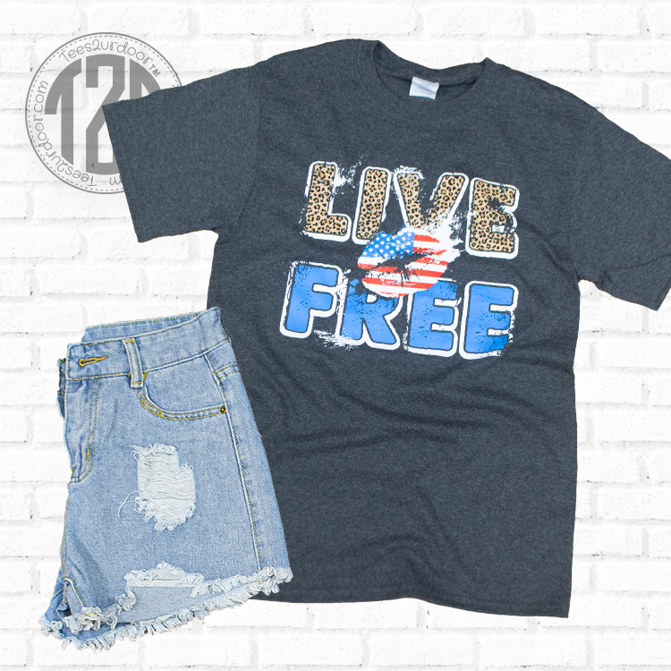 Live Free Graphic T-Shirt Flat