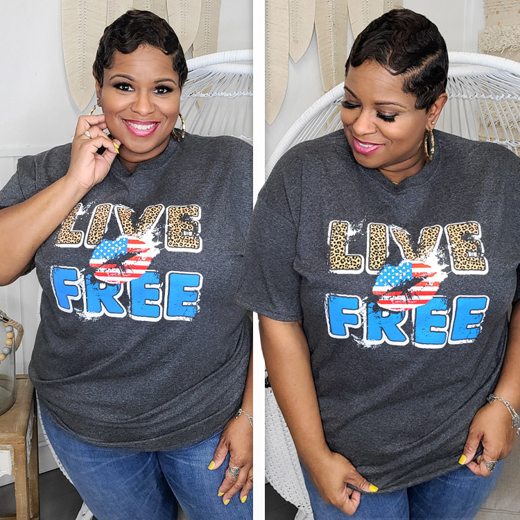 Live Free Graphic T-Shirt Lifestyle