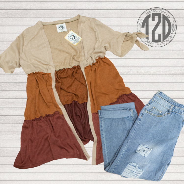 Lucile Cardigan brown ombre