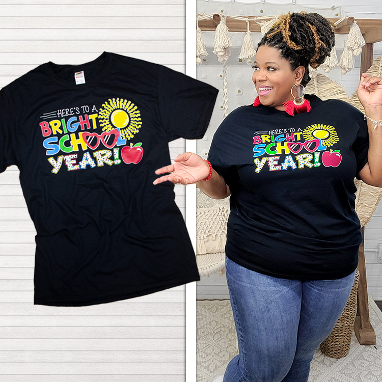 Here's to a Bright School Year Teacher T-Shirt Product Image