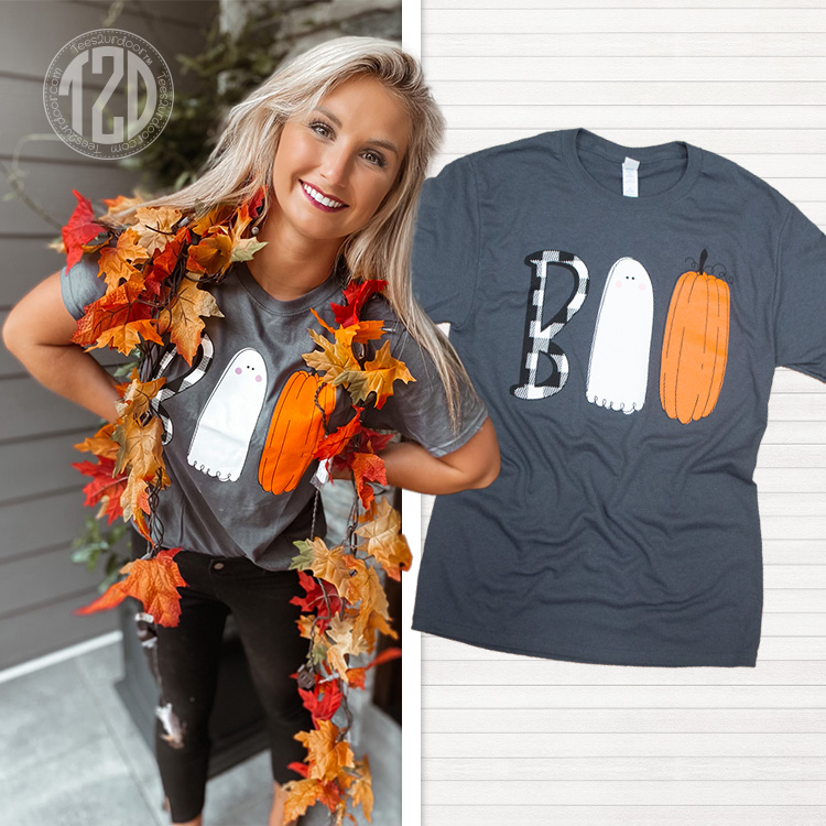Boo Halloween Doodle T-Shirt Product Image