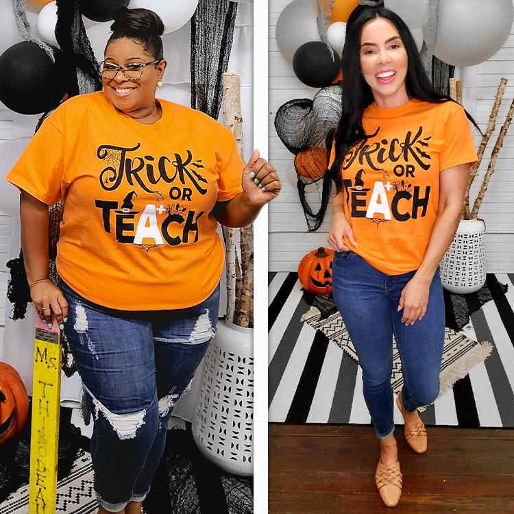 Trick or Teach Halloween T-Shirt Lifestyle 1