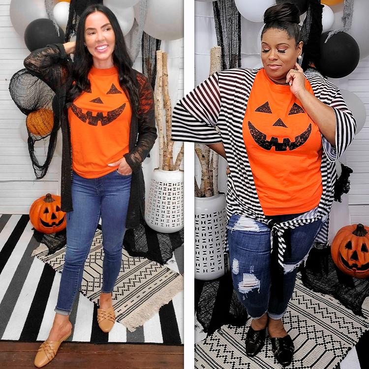 Pumpkin Face Halloween T-Shirt