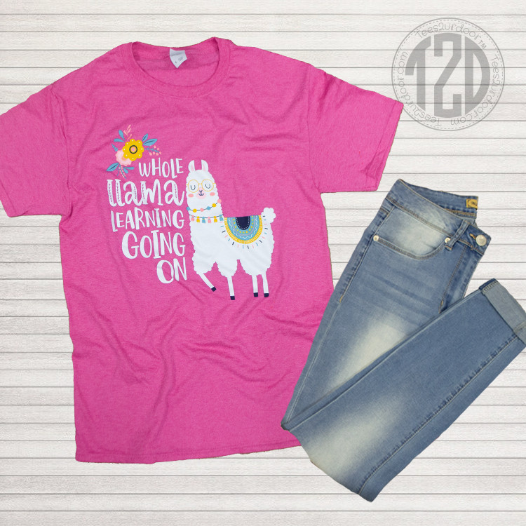 Whole Llama Learning Teacher T-Shirt