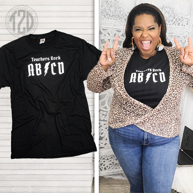 Teachers Rock ABCD T-Shirt