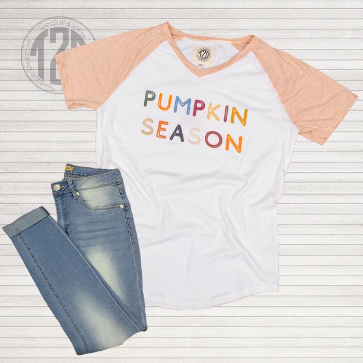 Pumpkin Season V-Neck Flat