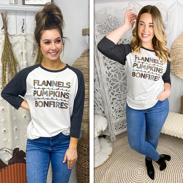 Flannels and Hayrides Raglan Lifestyle