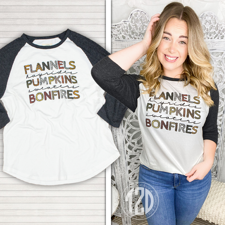 Flannels and Hayrides Raglan Product