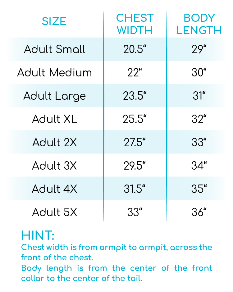 Sweaters, Apples, Football, and Pumpkins V-Neck Size Chart