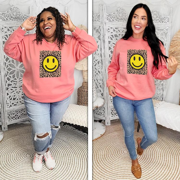 Leopard Smiley T2D Sweatshirt