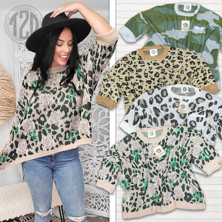 Valley Girl Sweater Patterned