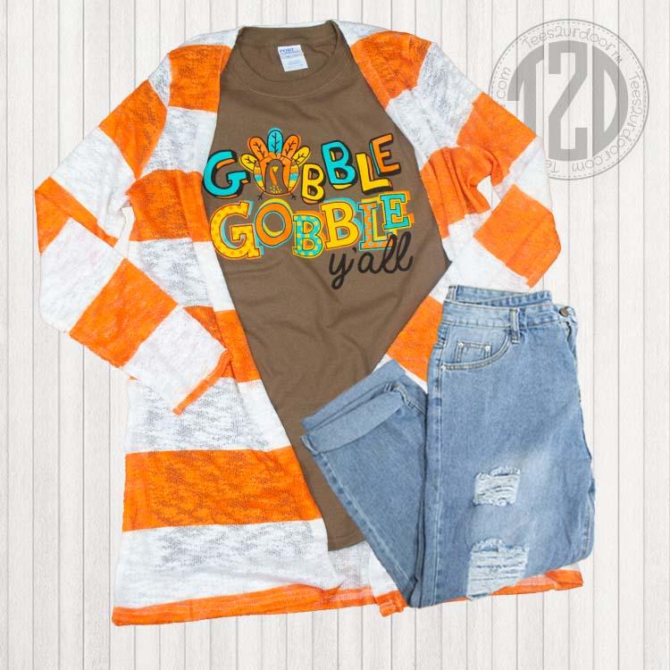 Gobble Gobble Y'all Thanksgiving T-Shirt