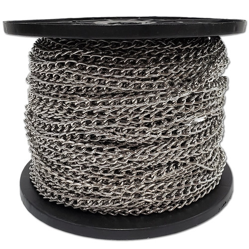 2 MM Nickel Plated Steel Chain Per 100m -