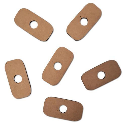 "Small Cardboard Slice 1"" x 2"" -"