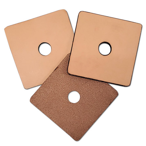 """3"""" X 3"""" Vegetable Tanned Leather -"""