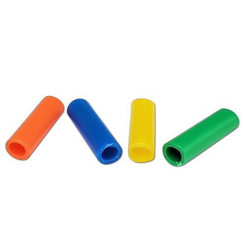 "1"" Plastic Tube Beads 1/2 lb -"