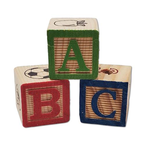 "1-1/8"" ABC Wood Block -"