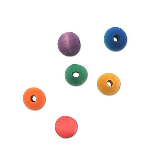 "1/2"" Colored Wood Bead -"