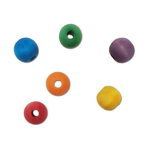 "5/8"" Colored Wood Bead -"