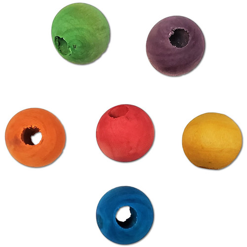 """1-1/2"""" Color Wood Bead -"""