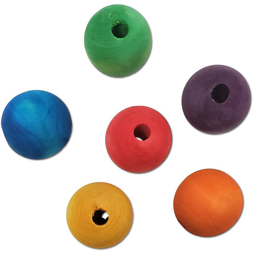 """1-7/8"""" Color Wood Bead -"""