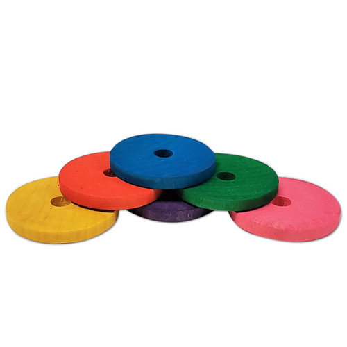 """2"""" Colored Wood Disc -"""