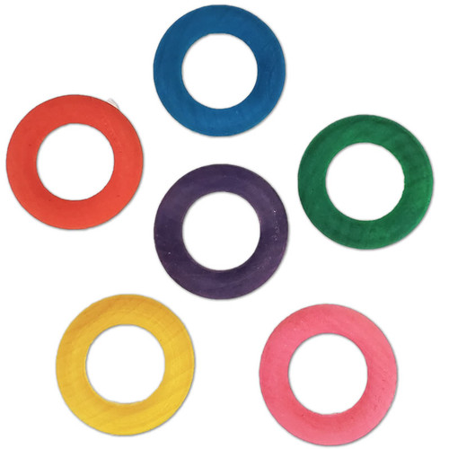"""1-3/4"""" Colored Wood Toss Ring -"""