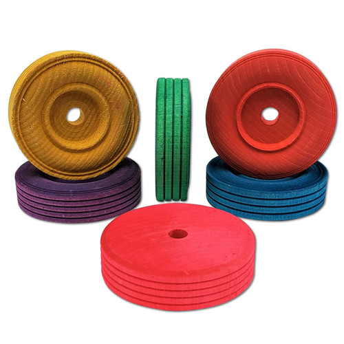 """2-3/4"""" Color Wood Tire -"""